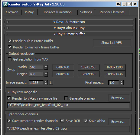 Tiles Rendering VRay Output with Split Render Channels
