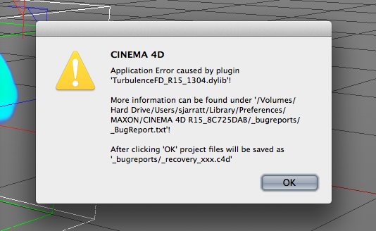 Crash with TurbulenceFD - Krakatoa C4D Beta Bug Reports