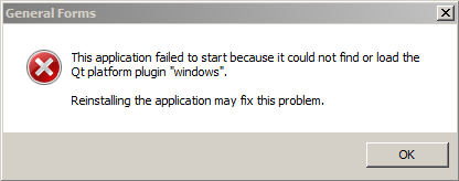 can't find or load Qt platform plugin